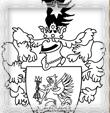 Erb rodu Trstensky - Čiernobiely vektor