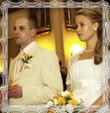 Mladomanželia pred oltárom, fotografia máj 2009