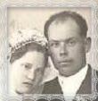 Mária Trstenská rod. Dzureková s manželom Viktorom, Trstená - 1940