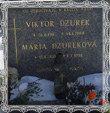 Hrob Márie Dzurekovej rod. Trstenskej a manžela Viktora, 1987