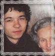 Helena Trstenská rod. Medvecká s vnukom Janom Kompanom v roku 2003