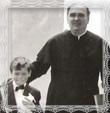 Prvé sväté prijímanie Marián Trstenský s dekanom Jaroslavom Pechom