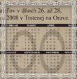 Kalendárik rodu Trstenský na rok 2009 - predná strana