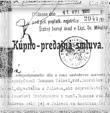 Kúpnopredajná zmluva na majetok v Jalovci po Zuzanne Kellovej, 1932