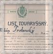 Výučný a tovarišský list Milana Trstenského z roku 1938