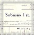 Výťah z matriky sobášených Milan a Božena z roku 1948 Farského úradu v Smrečanoch – Okoličnom