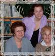 Milan s rodinou a mama Božena, fotografia 2006