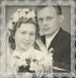 Vladimír a Etela Trstenskí dňa 24.4.1954 v ev. kostole v Smrečanoch