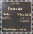 Náhrobný kameň Vladimíra 1929-2002 z cintorína na Jalovci