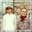 Viktória *1925, s vnučkou Juditou, Fotografia 1984