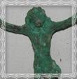 Bronzové torzo Krista 5,7x5 cm, fotografia máj 2009