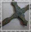 Drevený kríž 14,5 x 8 cm, fotografia máj 2009
