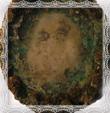 Relikviár Panna Mária rozmer 4,5x3,5 cm, averz, fotografia máj 2009