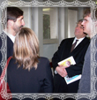 Pán župan Juraj Blanár v diskusii s účastníkmi podujatia
