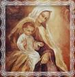 Detail obrazu panny Márie Škapuliarskej - Patrónky Trstenej