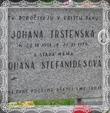 Náhrobný kameň Johany Trstenskej