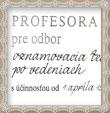 Vymenovanie za profesora prezidentom republiky