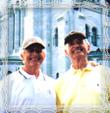 Bratia Kamil a William Tresten v Prahe, fotografia 1988