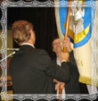 Odovzdávanie zástavy farnosti Trstená, fotografia 27.9.2008