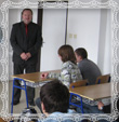 Pán riaditeľ gymnázia Mgr. Štefan Kristofčák, fotografia dňa 26.9.2008