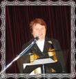 Slávnostnú báseň prednáša pani Mgr. Mária Trstenská, fotografia 27.9.2008