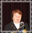 Mária Trstenská prednáša báseň, fotografia 27.9.2008