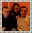 súrodenci Marek, Mária a Libor, fotografia, december 2008
