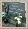 Náhrobný kameň Františka a Márie v Trstenej